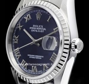 Reloj Rolex Datejust 16220 Esfera Azul Della Rocca Orologi