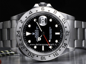 rolex explorer ii uhr 16570 schwarzes zifferblatt della. Black Bedroom Furniture Sets. Home Design Ideas