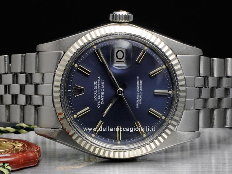 Rolex Datejust 1601 Jubilee Quadrante Blu Della Rocca