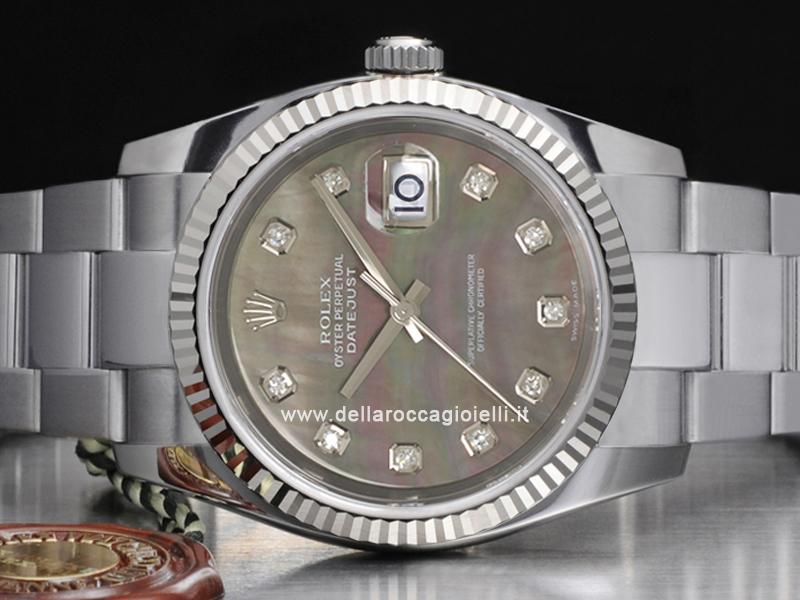 Rolex Datejust 116234 Oyster Quadrante Madreperla Nera ...