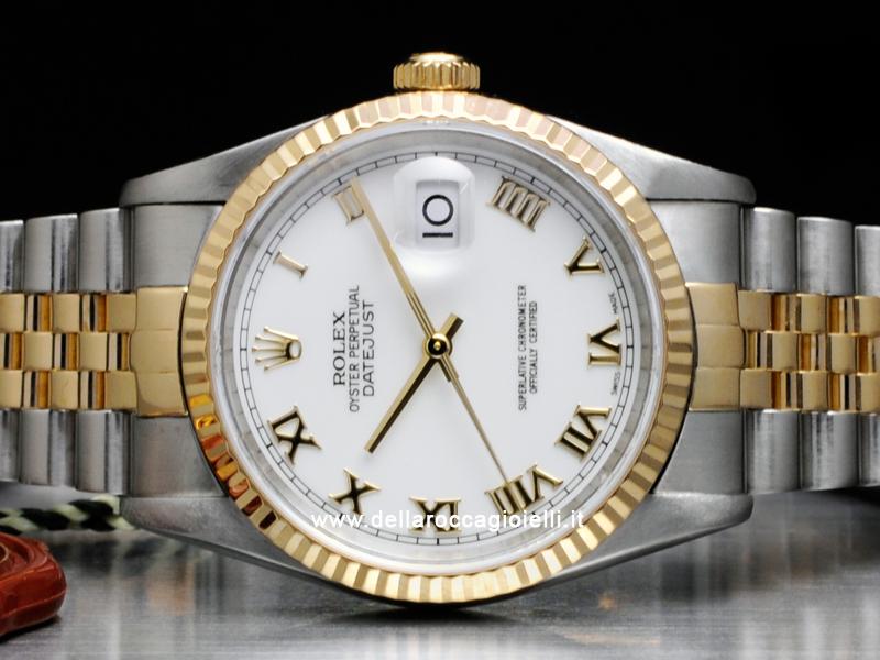 Rolex Datejust 16233 Jubilee Quadrante Bianco Numeri