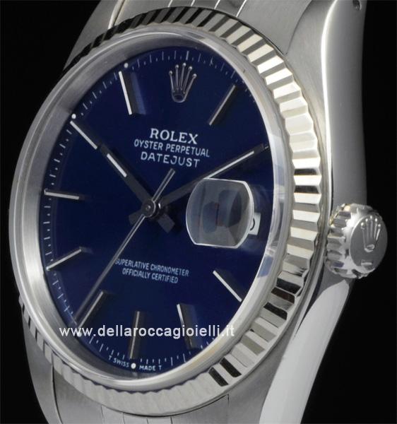 Rolex Datejust 16234 Jubilee Quadrante Blu Della Rocca