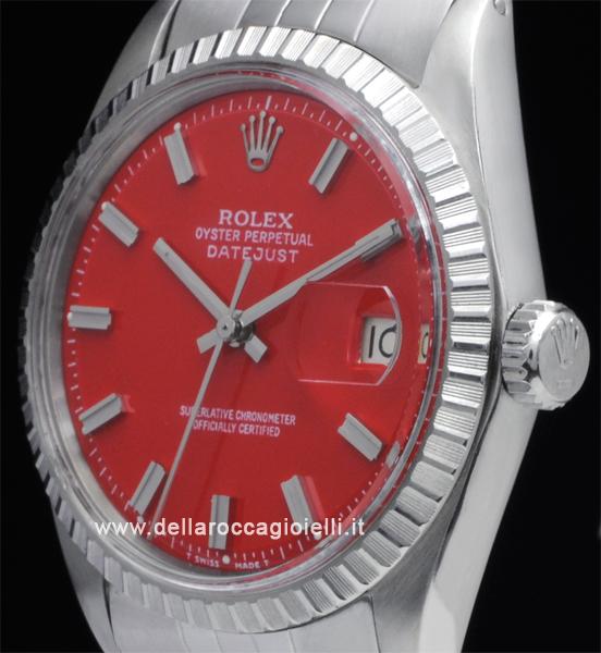 Rolex Datejust 1603 Jubilee Quadrante Rosso Della Rocca