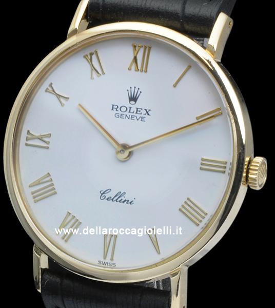 Rolex Cellini 5112 Oro Quadrante Bianco Numeri Romani Della Rocca Gioielli