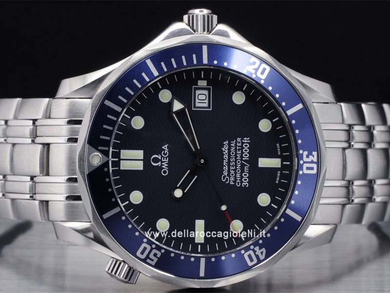 Omega Seamaster 300m James Bond 2531 80 00 Quadrante Blu Della Rocca Gioielli