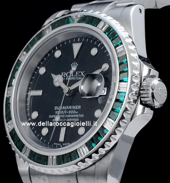 Rolex Submariner Data 16610 Sel Quadrante Nero Ghiera