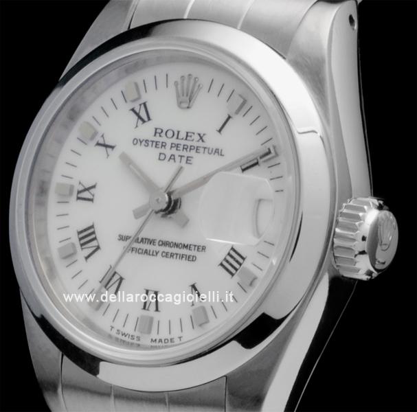 Rolex Date Lady 69160 Oyster Quadrante Bianco Numeri