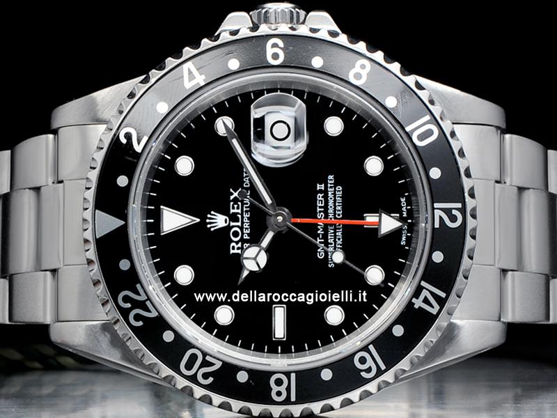 Rolex Gmt Master Ii 16710 Oyster Ghiera Nera Della