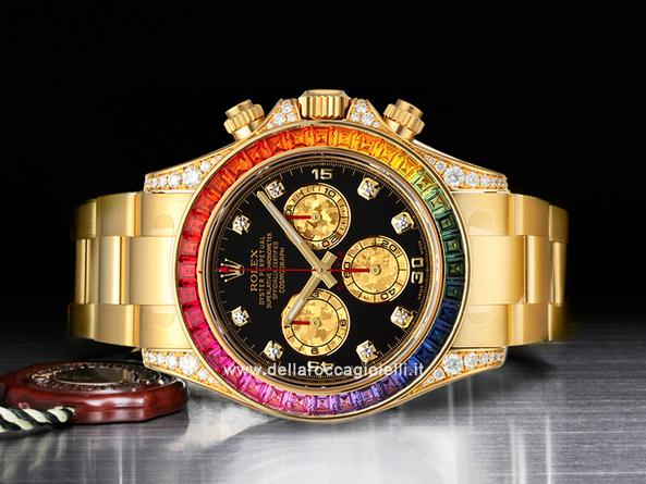 Rolex cosmograph daytona rainbow diamanti e zaffiri for Immagini con i brillantini
