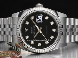 Rolex Datejust 116234 Jubilee Quadrante Nero Diamanti