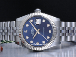 Rolex Datejsut Medio Lady 31 178274 Jubilee Quadrante Blu Diamanti