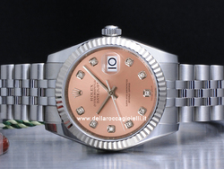 Rolex Datejust Medio Lady 31 178274 Jubilee Quadrante Rosa Diamanti