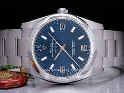 Rolex Air-king 114200 Oyster Quadrante Blu Arabi 3-6-9