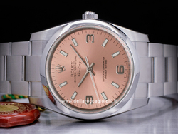Rolex Air-king 114200 Oyster Quadrante Rosa Arabi 3-6-9