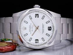 Rolex Air-king 114200 Oyster Quadrante Bianco Arabi 3-6-9