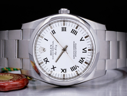 Rolex Air-king 114200 Oyster Quadrante Bianco Romani