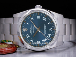 Rolex Air-king 114200 Oyster Quadrante Blu Romani