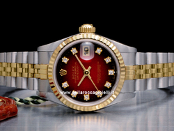 Rolex Datejust Lady 69173 Jubilee Quadrante Rosso Degradee Diamanti