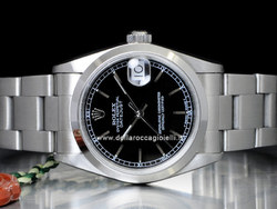 Rolex Datejust Medio Lady 31 68240 Oyster Quadrante Nero