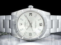 Rolex Air-King 114210 Oyster Quadrante Argento Arabi 3-6-9