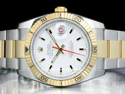 Rolex Datejust Turn-O-Graph 116263 Oyster Quadrante Bianco
