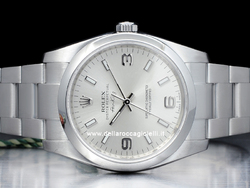 Rolex Air-King 114200 Oyster Quadrante Argento Arabi 3-6-9