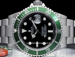 Rolex Submariner Data Ghiera Verde 16610LV Quadrante Nero