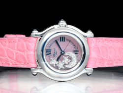 Chopard Happy Sport Lady 27-8245 Quadrante Rosa Tre Stelle e Luna Diamanti