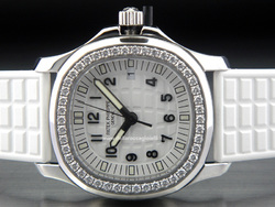 Patek Philippe Aquanaut Luce Pure White Stainless Steel Lady Watch with Diamonds - Ref. 5067