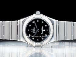 Omega Constellation My Choice Lady 14655100 Quadrante Nero Ghiera Diamanti