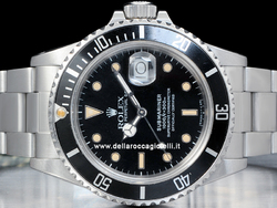 Rolex Submariner Data 168000 Transizionale Quadrante Nero Epoca