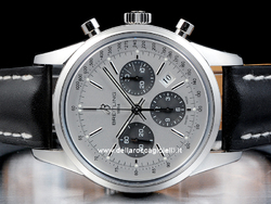 Breitling Transocean Chronograph AB015212 Quadrante Argento