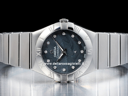 Omega Constellation Lady Quartz 12310276053001 Quadrante Blu Diamanti
