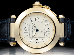 Cartier Pasha 38mm 1010 Oro Quadrante Avorio Arabi