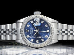 Rolex Datejust Lady 69174 Jubilee Quadrante Blu Diamanti