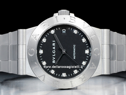 Bulgari Diagono LCV35 S Quadrante Nero Diamanti