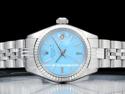 Rolex Date Lady 6917 Jubilee Quadrante Turchese