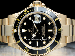 Rolex Submariner Data 16618 Oro Oyster Quadrante Nero