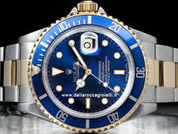 Rolex Submariner Data 16613 Oyster Quadrante Blu