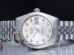 Rolex Datejust Medio Lady 31 178274 Jubilee Quadrante Argento Diamanti