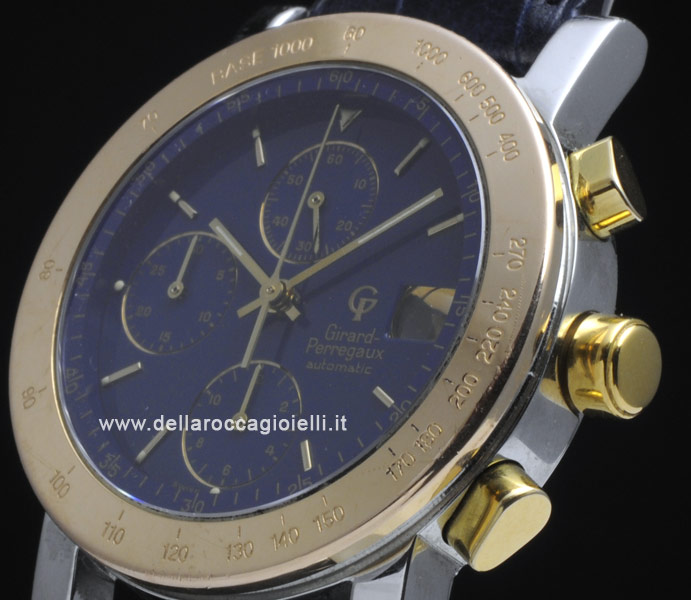 Girard Perregaux Gp 7000 Chronograph Stainless Steel And