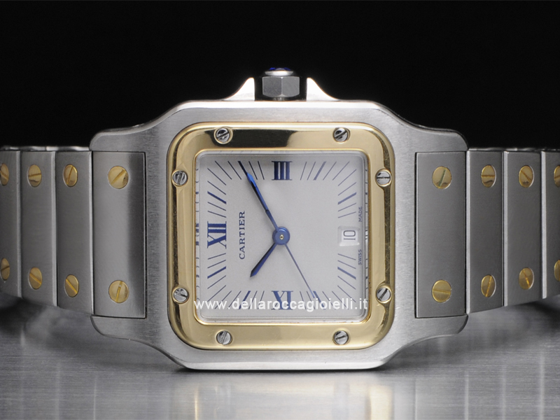 Cartier Santos Galbee LM Steel and Gold Watch