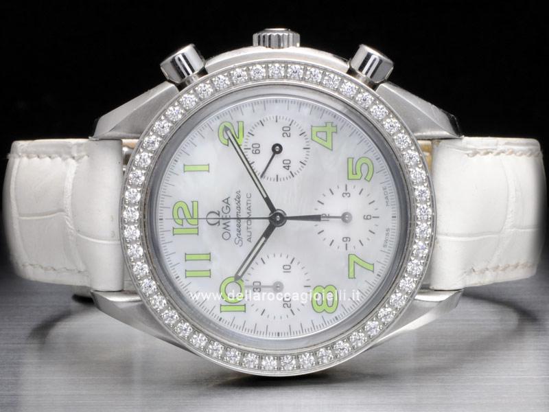 Omega Speedmaster Ladies Stainless Steel Diamond Watch Ref. 3835.72.35