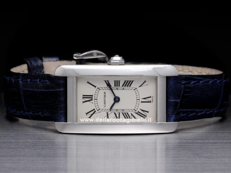 Cartier Tank Americaine SM White Lady Gold Watch W2603256