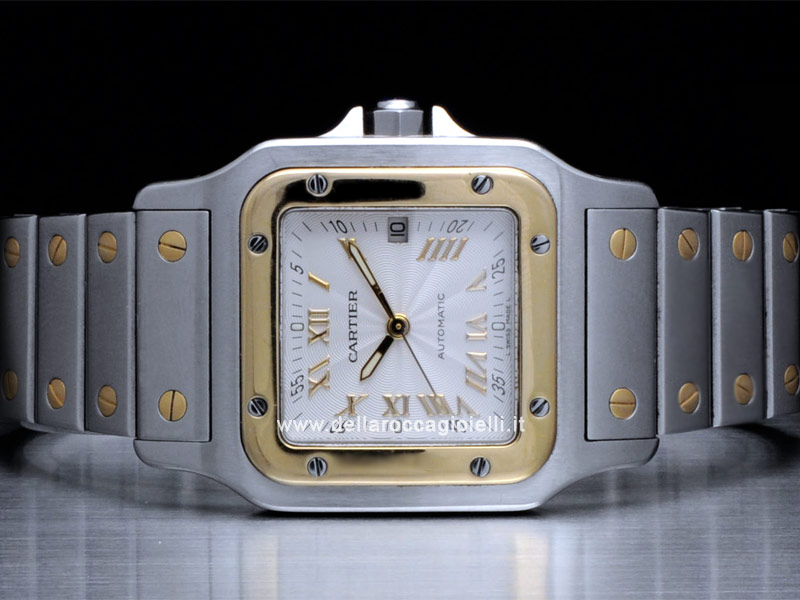 Cartier Santos Galbee LM Steel and Gold Watch W20041C4