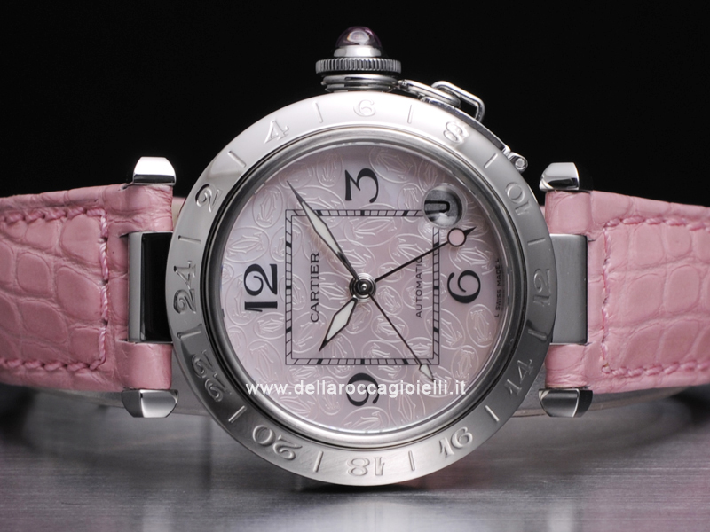 Cartier Pasha C Time Zone Stainless Steel Watch