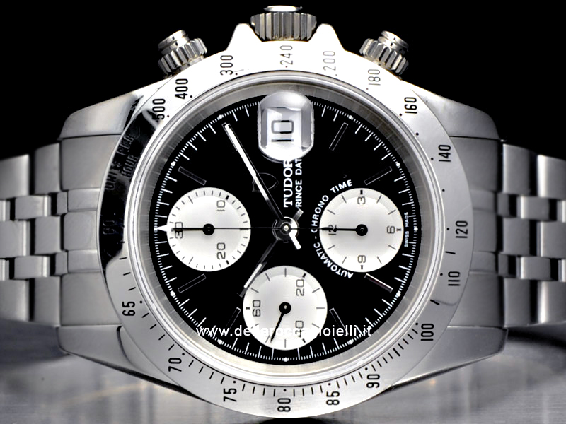 Tudor Prince Date Chrono Time Stainless Steel Watch 79280P