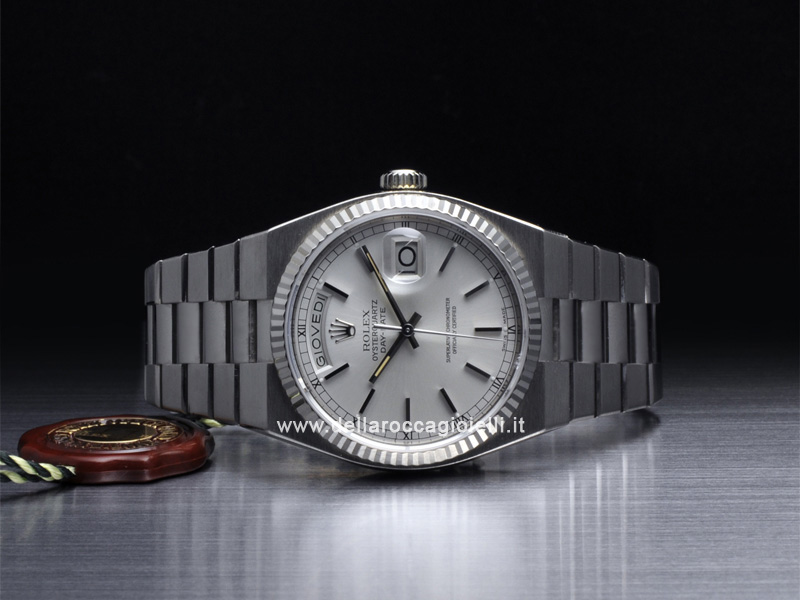 Rolex Oysterquartz Day-Date White Gold Watch