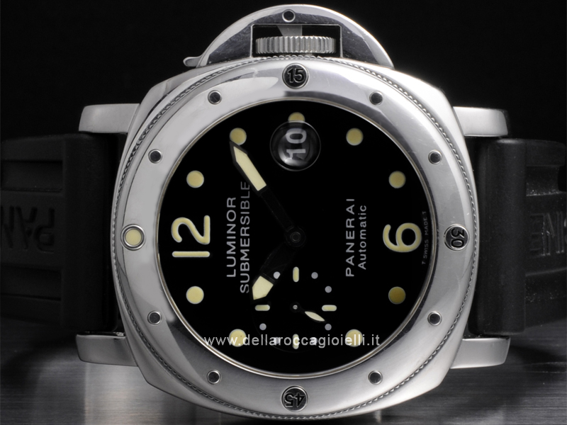 Officine Panerai Luminor Submersible Stainless Steel Watch PAM 24