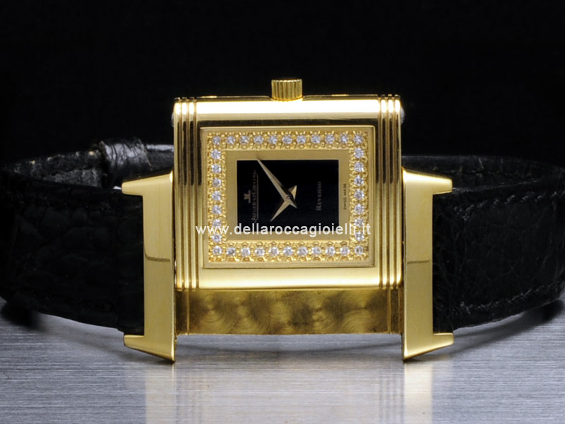 Jaeger LeCoultre Reverso Lady Gold and Diamonds Watch 260.1.08